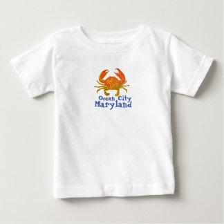Camiseta De Bebé Ciudad Maryland del océano
