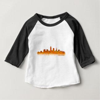 Camiseta De Bebé cleveland city US skyline watercolor