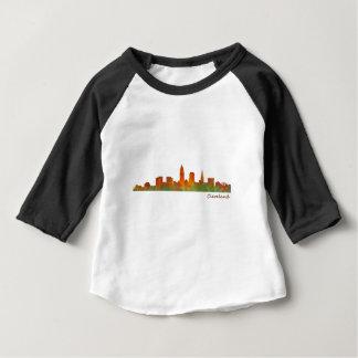 Camiseta De Bebé cleveland Ohio USA Skyline city v01