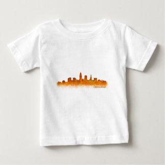 Camiseta De Bebé cleveland Ohio USA Skyline city v02