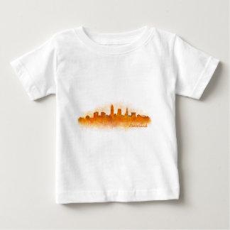 Camiseta De Bebé cleveland Ohio USA Skyline city v03