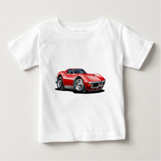 Camiseta De Bebé Coche 1968-72 del rojo del Corvette