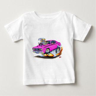 Camiseta De Bebé Coche 1970-74 del rosa del plumero de Plymouth