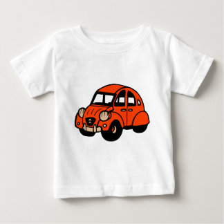 Camiseta De Bebé coche de 2 del cv franceses del vintage