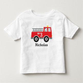 Camiseta De Bebé Coche de bomberos personalizado del cumpleaños