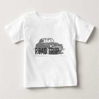 Camiseta De Bebé Coche del vintage del viaje por carretera