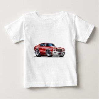 Camiseta De Bebé Coche Marrón-Blanco 1970 de Chevelle
