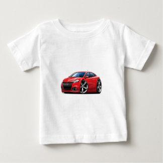 Camiseta De Bebé Coche Rojo-Negro de la parrilla del dardo de Dodge