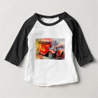 Camiseta De Bebé Coche rojo viejo clásico