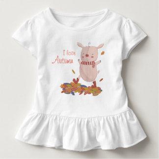 Camiseta De Bebé Cochinillo del otoño