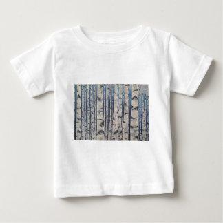 Camiseta De Bebé Código Morse de los árboles de abedul