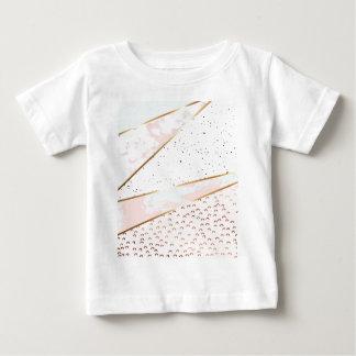 Camiseta De Bebé Collage, mármol blanco, oro, plata, negro, blanco,