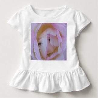 Camiseta De Bebé color de rosa e insectos