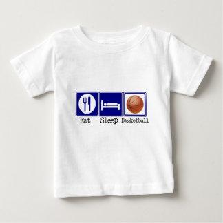 Camiseta De Bebé Coma, duerma, baloncesto