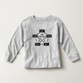 Camiseta De Bebé Coma el grito del juego del impulso del sueño -
