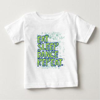 Camiseta De Bebé coma la repetición de la danza del sueño