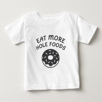 Camiseta De Bebé Coma más comidas del agujero