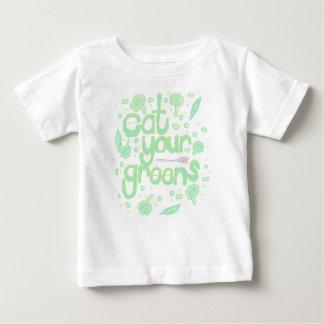 Camiseta De Bebé coma sus verdes
