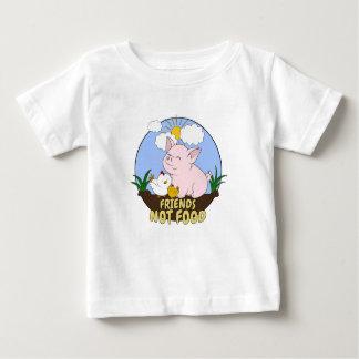 Camiseta De Bebé Comida de los amigos no - cerdo y pollo lindos