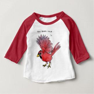 Camiseta De Bebé Cómo los pájaros agitan al cardenal