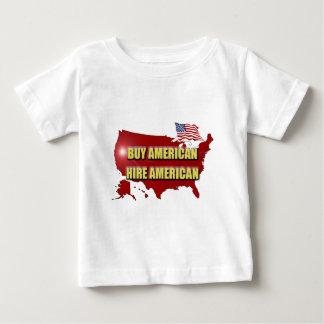 Camiseta De Bebé ¡Compre América!  ¡Emplee América!