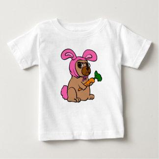 Camiseta De Bebé Conejo del traje del perro