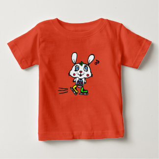 Camiseta De Bebé Conejo divertido del patinaje de hielo