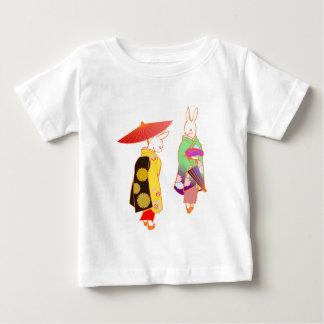 Camiseta De Bebé Conejos de conejito japoneses