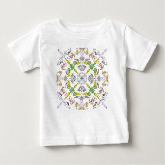 Camiseta De Bebé Conejos del caleidoscopio