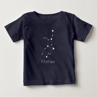 Camiseta De Bebé Constelación personalizada del zodiaco del virgo