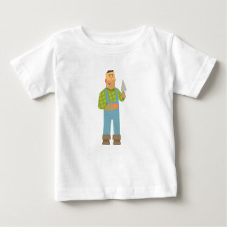Camiseta De Bebé Constructor con el ladrillo y paleta en