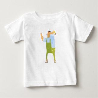 Camiseta De Bebé Constructor con el martillo y clavos en