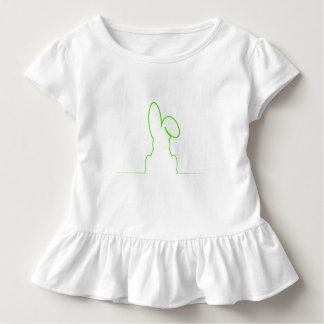 Camiseta De Bebé Contorno de una liebre verde clara