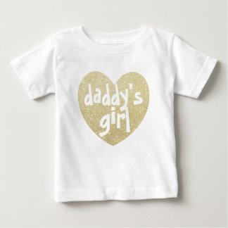 Camiseta De Bebé Corazón de la Brillo-Impresión del chica del papá