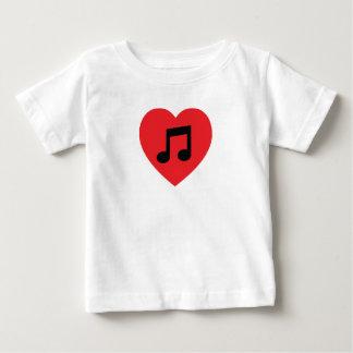 Camiseta De Bebé Corazón de la nota de la música