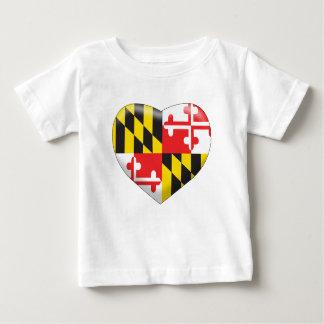 Camiseta De Bebé Corazón de Maryland