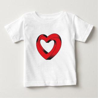 Camiseta De Bebé corazón imposible torcido