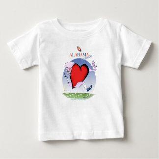 Camiseta De Bebé corazón principal de Alabama, fernandes tony