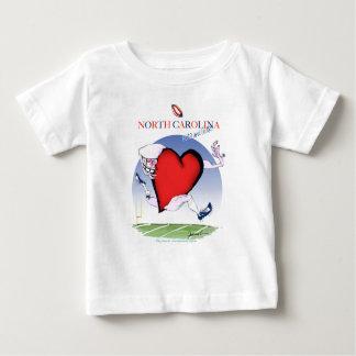 Camiseta De Bebé corazón principal de Carolina del Norte, fernandes