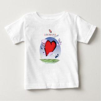 Camiseta De Bebé corazón principal de Luisiana, fernandes tony