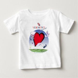 Camiseta De Bebé Corazón principal de Vermont, fernandes tony