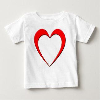 Camiseta De Bebé Corazón rojo