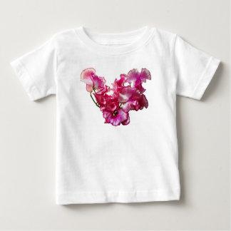 Camiseta De Bebé Corazón rosado del guisante de olor