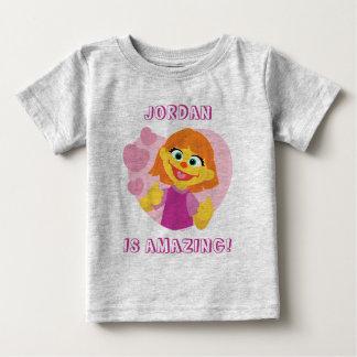 Camiseta De Bebé Corazón rosado del Sesame Street el   Julia