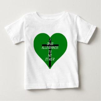 Camiseta De Bebé Corazón verde y cruz de IOATNO