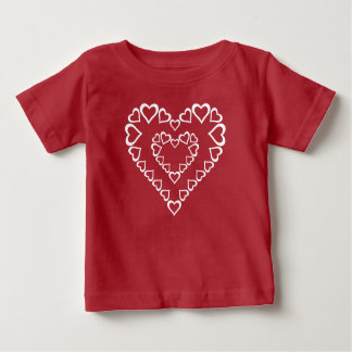 Camiseta De Bebé Corazones blancos del corazón