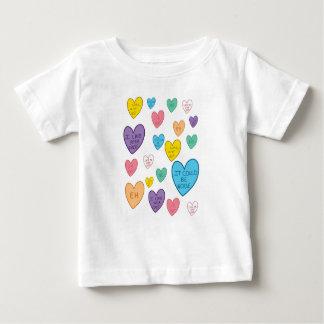 Camiseta De Bebé Corazones del caramelo