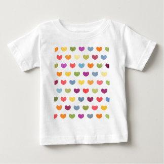 Camiseta De Bebé Corazones lindos coloridos VII