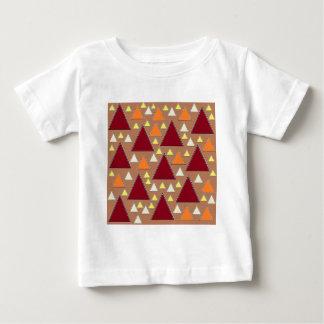 Camiseta De Bebé cordilleras rematadas nieve de la caída del pixel
