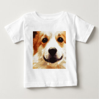 Camiseta De Bebé Corgi soplado moderno Galés